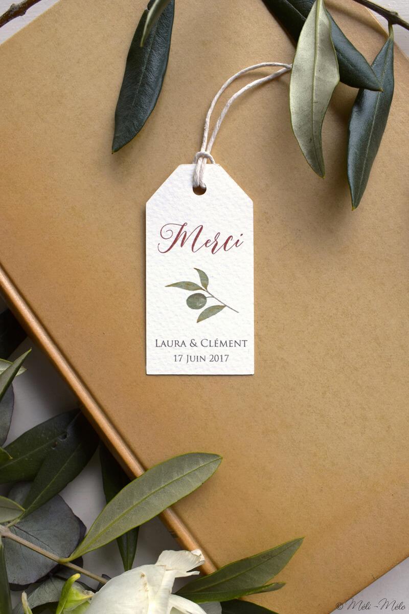 etichetta per bomboniera olio di oliva con foglie di ulivo