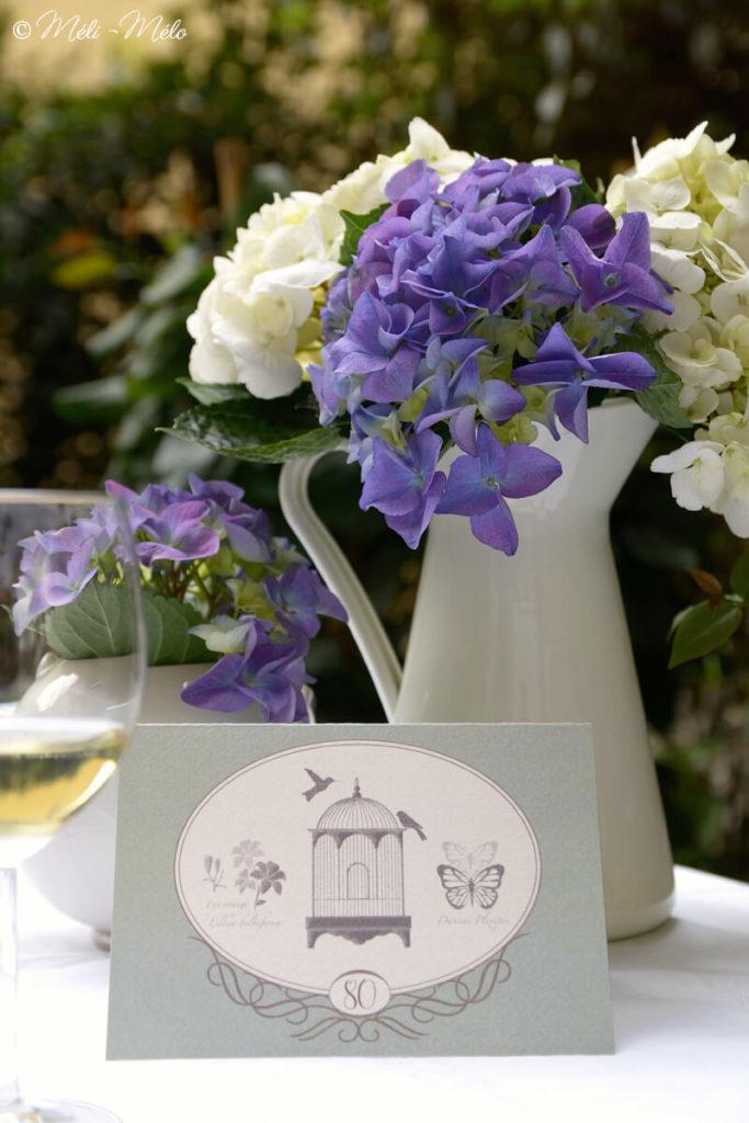 un biglietto di auguri per compleanno 80 anni e fiori